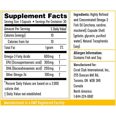 Ingredienti Omega 3 massima concentrazione