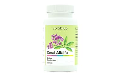 Alfalfa fonte degli aminoacidi Coral Club