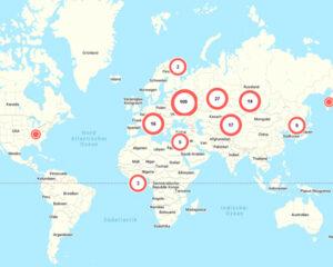 Uffici di Coral Club in mondo